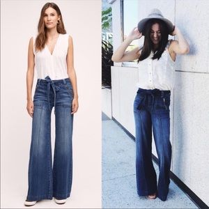 Pilcro Palazzo high rise flare jeans